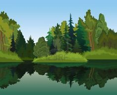 Google Image Result for http://us.123rf.com/400wm/400/400/natuskadpi/natuskadpi1110/natuskadpi111000016/10800821-vector-landscape-with-green-trees-and-blue-lake-on-a-sky-background.jpg