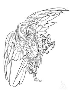 Trendy Bird Tattoo Line Crows Ideas Tattoo Design Drawings, Bird Drawings, Tattoo Sketches, Bluebird Tattoo, Bird Tattoo Men, Crows Drawing, Tattoo Coloring Book, Spooky Tattoos, Eagle Art