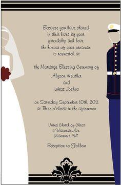 Marine Corps Wedding