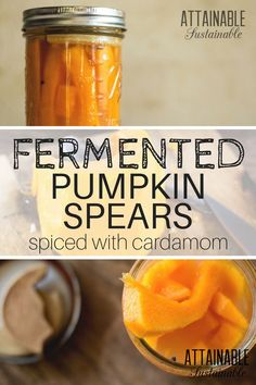 For an unusually flavorful way to add probiotics to your diet, try this easy fermented pumpkin recipe to preserve them without canning. Sounds like snack time! Best Probiotic Foods, Fermented Foods, Fermentation Recipes, Canning Recipes, Sauerkraut, Kombucha, Easy Healthy Recipes, Whole Food Recipes, Dessert Recipes