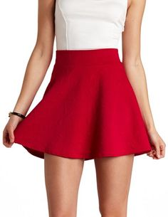 Geo-Quilted High-Waisted Skater Skirt: Charlotte Russe