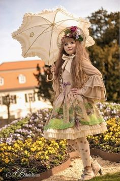 """This is borderline """"mori,"""" but I'm going to call it classical because of her wig and the muted colors."""