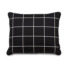 Joel cushion - black/vanilla - Pappelina
