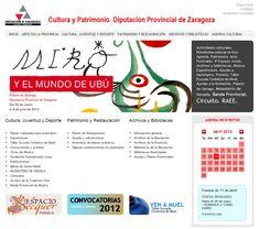 Portal del Area de Cultura de la Diputación Provincial de Zaragoza.
