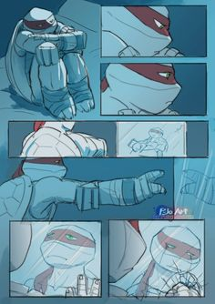 I looking for this comic and I am not fan of Raphael, but this is so sad. :'( Poor Raph.