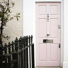 banhamsecurityPale Pink door with our polished chrome locks. So simple So stylish @elsapark08 - & Numerals | Door Furniture | Pinterest | Doors Door furniture and ...