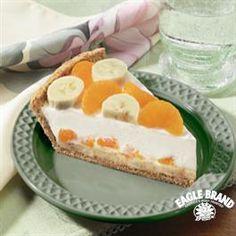 #Banana Mandarin Cream Cheese #Pie from Eagle Brand®