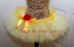 Southern Belle, Beauty and the Beast Princess Costume  Race Running Tutu in Yellow ; Adult Women's