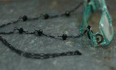 Eyeglasses Holder Chain Featuring Black Crystals by Jennifer Sadler Designs, $20.00
