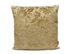 Cut Velvet couch Pillow 18x18, decorative cushion cover, handmade from vintage upholstery fabrics by EllaOsix, floral gold beige decor - pinned by pin4etsy.com
