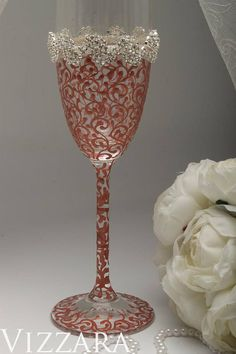 Rose GOLD champagne flutes Wedding champagne flute GOLD
