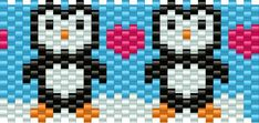 penguins bead pattern  using this as a template for my kandi bag