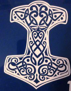 Mjölnir Decal Thor's Hammer by MerryMeetDesigns on Etsy, $6.00