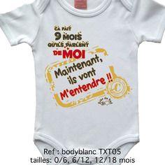 5a27440da Body bébé humour message