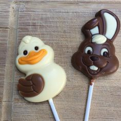 Our white chocolate duck and milk chocolate bunny lollipops are a perfect Easter treat! Chocolate Bunny, Belgian Chocolate, Chocolate Shop, White Chocolate, Leonidas Chocolate, Candy Buffet Supplies, Walnut Creek, Easter Treats, Lollipops