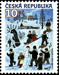 Stamp Collecting, Czech Republic, Postage Stamps, The Past, Country, Retro, Illustration, Artist, Poster