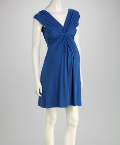 Take a look at this Blue Knot Maternity Dress by Leone Maternity on #zulily today! $24.99, regualr 75.00