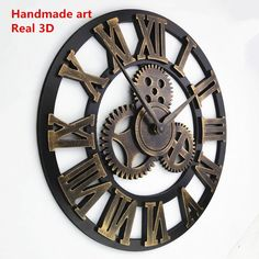 Rustic Decorative Luxury Big Gear Wall Clock