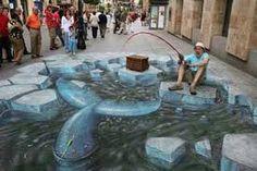 Vissen Graffiti 3d art