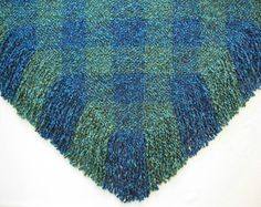 Triangle Shawl Wrap Large Woven Shawl by SticksNStonesGifts