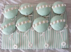 """Baby Shower """"Rattle"""" Cupcakes"""