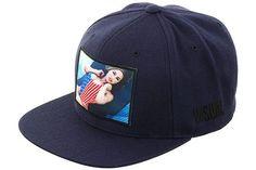 V/SUAL Apparel Ana Cheri Flag Snapback Hat - Navy - Hat Club