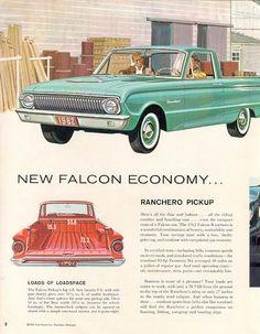 1962 Ford Falcon Ranchero. The ultimate drive in ride.