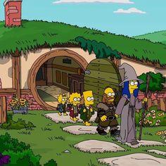 Divertida parodia de El Hobbit y El Señor de los Anillos en Los Simpson