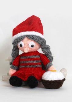 Julemor Juliane - Køb billigt her All Things Christmas, Christmas Holidays, Christmas Crafts, Christmas Ornaments, Xmas, Diy Crochet, Crochet Toys, Female Reindeer, Female Gnome