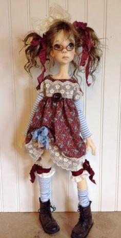 Rasberry-and-blue-Dress-set-Fits-Kaye-Wiggs-SD-Tobi-body-by-DCH