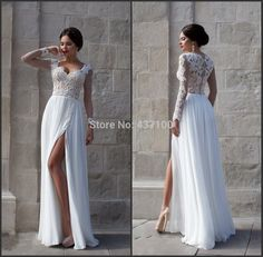 Find More Wedding Dresses Information about Elegant Maternity Lace Wedding Dress Bride Long Sleeves Slit White Wedding Gowns Plus Size vestido de noiva 2015 robe de mariage,High Quality dresses gown,China dress weding Suppliers, Cheap dress wedding gown from Lovestory Dress Store on Aliexpress.com