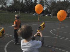 NERF gun sports boy Birthday Party Birthday Party Ideas
