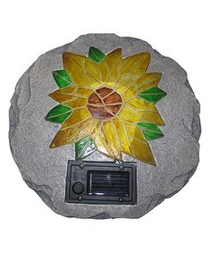Another great find on #zulily! Flower Stepping Stone & Solar Light #zulilyfinds