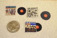3 Dollhouse Miniature 1 12 scale The Beatles by NancysGeneralStore