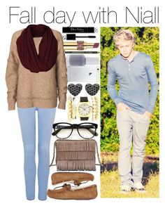 """""""Fall day with Niall"""" by justgirlydirectioners ❤ liked on Polyvore featuring Forever New, By Malene Birger, Cynthia Rowley, Essie, Wildfox, Charlotte Russe, UGG Australia and Tory Burch"""