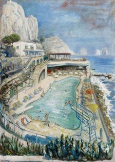 Kurt Weinhold (German, 1896-1961), La canzone del mare, 1955. Oil on hardboard, 104.5 x 73.5 cm.