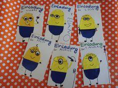 Minions Einladungskarten Kindergeburtstag | Assorted Card Ideas | Pinterest  | Cards, Papercraft And Card Ideas