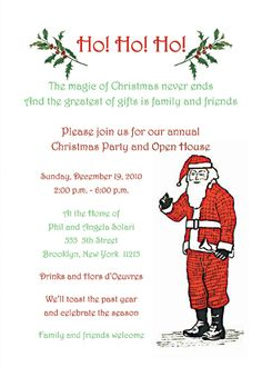 Christmas open house invitation food gifts pinterest open christmas party invitation wording christmas party invitation cpit 01 stopboris Gallery