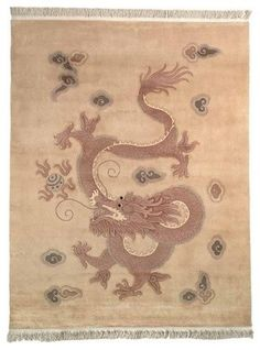 Woven Legends, earthtone Chinese rug