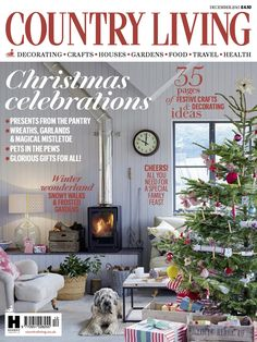 Country Living Magazine UK December 2015 cover countryliving.co.uk