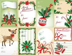Free Christmas Labels in a PDF