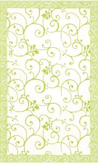The Rug Market Kids Fairies 4 12515 White and Green area #rugs - This can be purchased at BoldRugs.com