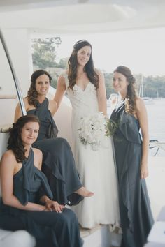 Chic Champagne Yacht Cruise Wedding in Perth, Australia - Wedding - - Yacht Wedding Ideas - Yacht Wedding, Cruise Wedding, Dream Wedding, Wedding Attire, Wedding Gowns, Wedding Styles, Wedding Photos, Yacht Cruises, Bridal Musings