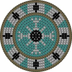 Mochila bag bottom pattern