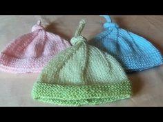 Tuto bonnet pour bébé prématuré - YouTube