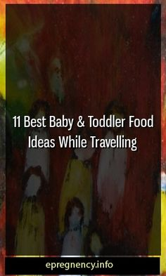 11 Best Baby & Toddler Food Ideas While Travelling #childbirth  #Parent-ship