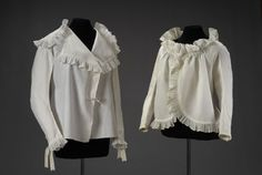 Chemise de femme et caraco, 18th century French (Musee du Costume et de la Dentelle)