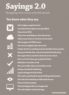 Popular sayings updated for the Internet era