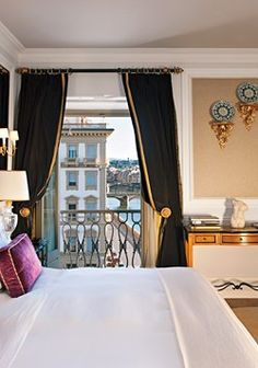 The worlds most perfect room?  I think so... (The St. Regis in Florence, Italy.) Lovely!