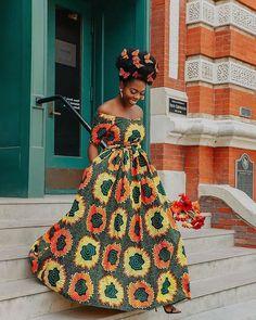 Stunning off shoulder Ankara maxi dress African Inspired Fashion, Latest African Fashion Dresses, African Print Dresses, African Dresses For Women, African Print Fashion, Africa Fashion, African Wear, African Attire, Ankara Fashion